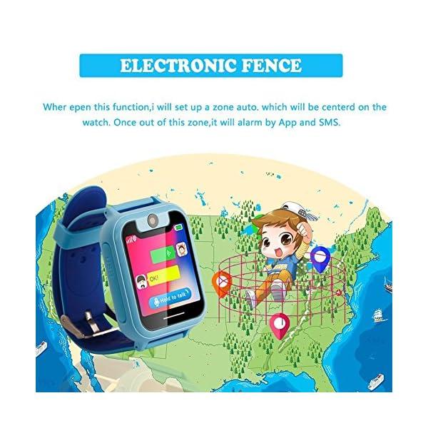 PTHTECHUS Telefono Reloj Inteligente LBS Niños - Smartwatch con Localizador LBS Juegos Despertador Camara Linterna per… 2