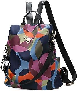 Damen Rucksack Umhängetasche Anti Diebstahl Tasche Wasserdichte Nylon Schultaschen für Herren, Damen, Arbeit, Reisen, Schu...