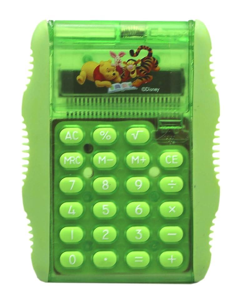 無視する寮混雑ディズニー くまのプーさんと仲間たち グリーンキッズ電卓