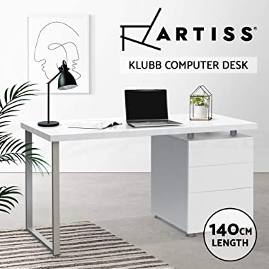 Artiss Home Office Computer Desk Workstation Study Gaming Table White