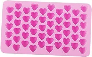 WA 55 Holes Mini Corazón Forma moldes DIY Cake Mold alimentos silicona Fondant decoración