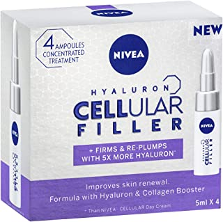 NIVEA Hyaluron Cellular Filler Ampoules, 4 x 5ml
