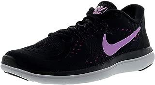 Nike Women's Flex 2017 RN Running Shoes (8 B US, Black/Fuchsia Glow)