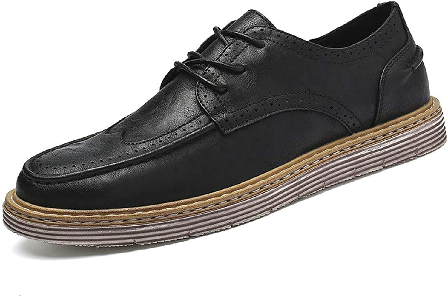 XIANGBAO-Personality Men's Classico Business Oxford Casual Fashion New Handcrafted Retro Simplicity Outsole Carved Brogue shoes