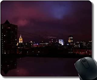 Mouse Pads,City Buildings Architecture Mouse Pad With Stitched Edges A216