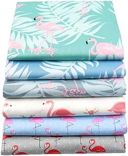"Qimicody Fat Quarters Fabric Bundles, 6 Pcs 100% Cotton 20"" x 20"" (50cmx50cm) Precut Quilting Fabric Squares Sheets for DI..."