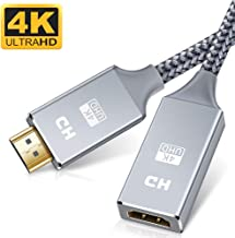 Techrum HDMI Extender Roku Stick HDMI Extension Cable 4K@60Hz 20cm HDMI Male to Female Adapter for Fire TV Stick PS4 Xbox 360