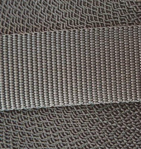 3 m PP Gurtband 40 mm grau