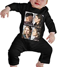 RuiPeng Baby Boy Girl Crew Neck Long-Sleeve Bodysuit The Shannara Chronicles Featured Funny Jumpsuit Black