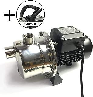 BACOENG 4Bar 900GPH Stainless Steel Jet Pump for Garden Lawn Irrigation - Industrial Grade Motor Inside (30% More Powerful Than 1.6HP Civil Grade)