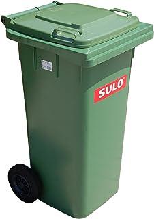 Cubo de basura 2 ruedas, contenedor a basura SULO 120 L, verde (22069)