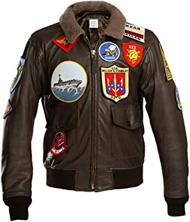 G1 US Navy Leather Flight Jacket Top Gun Maverick Cazadora DE PILOTO Chaqueta Aviador Cuero