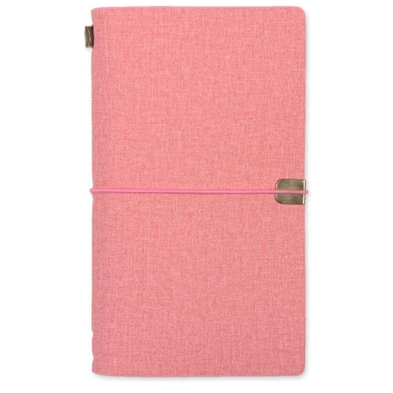 首謀者港和書き込み メモリーブック、ノートブックA6、ルーズリーフハンドブッククリエイティブハンドブックダイアリーブックビジネス、3個 学生の (Color : Pink)