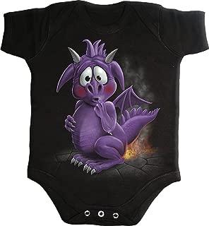 Baby-Boys - Dragon Relief - Baby Sleepsuit Black