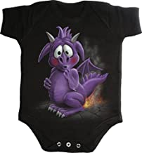 Spiral Baby-Boys - Dragon Relief - Baby Sleepsuit Black