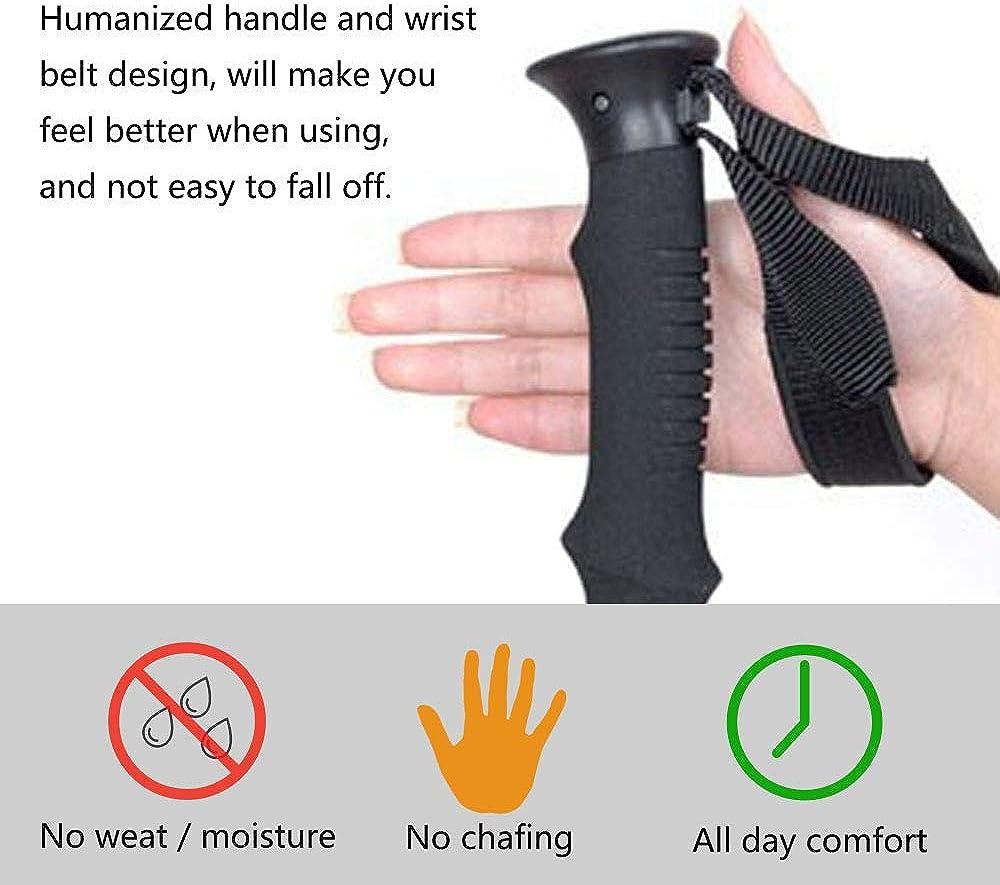 Acenilen Trekking Poles Collapsible Walking Hiking Sticks Lightweight Aluminum Adjustable Trekking Sticks with Quick Flip-Lock