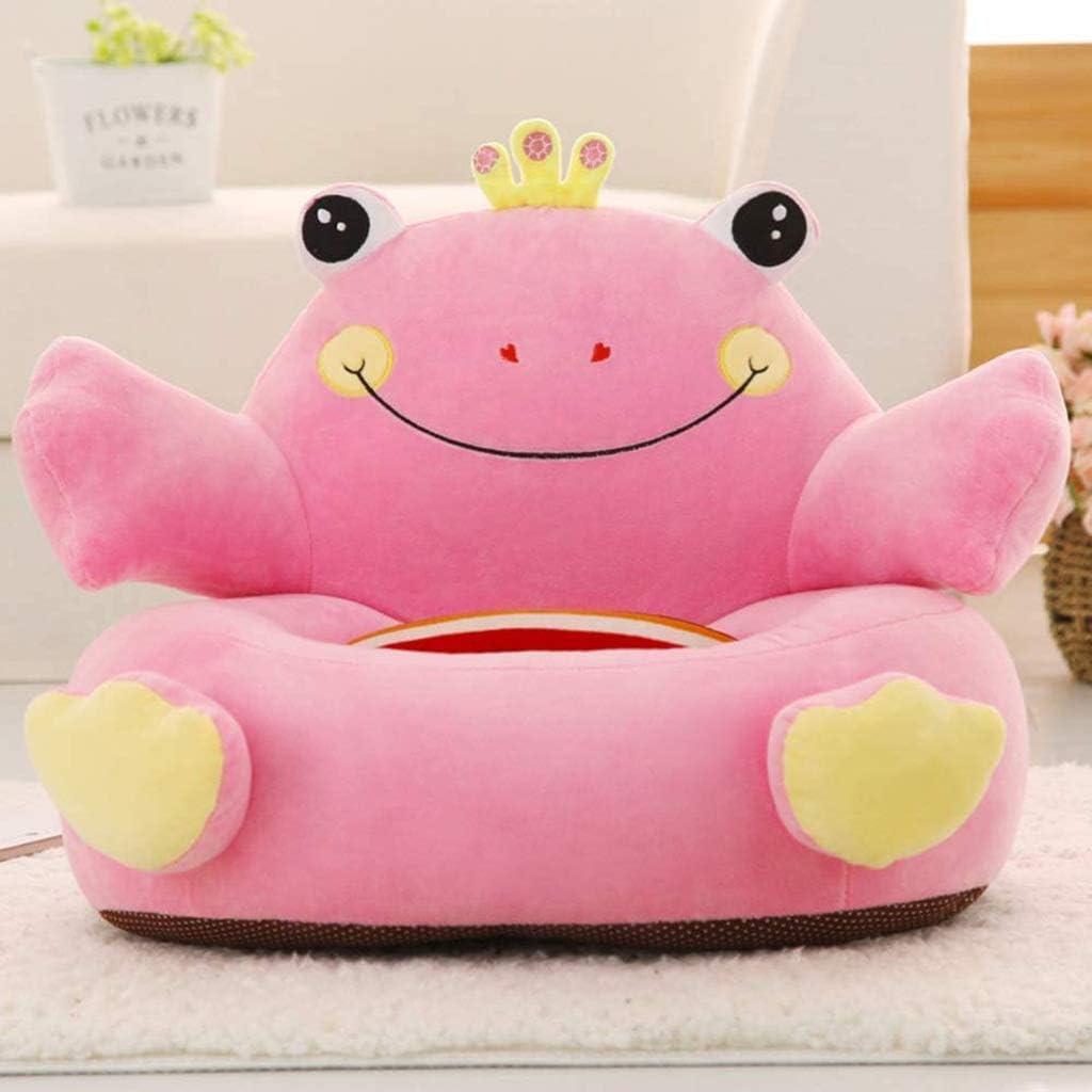 Diaod Peluche Chaise Sofa Enfants Doux Animal Dossier Mignon Sièges Fauteuil for Chambre Salle de Jeux (Color : Pink) Pink