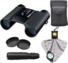 Nikon Trailblazer 8x25 ATB Binoculars, Waterproof (8217), Black Bundle with Nikon Microfiber Cleaning Cloth and Lumintrail Keychain Light