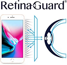 RetinaGuard iPhone 8 Plus Anti Blue Light Screen Protector (Transparent), SGS and Intertek Tested, Blocks Excessive Harmful Blue Light, Reduce Eye Fatigue and Eye Strain