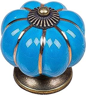 Pumpkin Knob Cabinet Halloween Custom China Zinc Handle Pull, Blue, 10 Pack