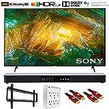 Sony XBR75X800H 75' X800H 4K Ultra HD LED TV (2020) with Deco Gear Soundbar Bundle