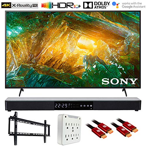 Sony XBR43X800H 43' X800H 4K Ultra HD LED TV (2020) with Deco Gear Soundbar Bundle