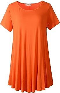 7722334af84b41 LARACE Women Short Sleeves Flare Tunic Tops for Leggings Flowy Shirt