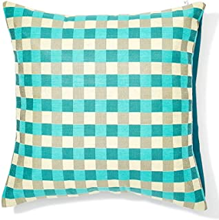 CUSHION COVER DUP CHECK 40 X 40 CM (PINK, Fabric)