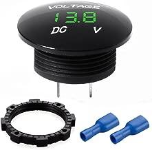 Sxstar Mini Waterproof Voltmeter with LED Digital Display, Voltage Meter DC 12V-24V Universal for Car/Motorcycle / Truck – Green