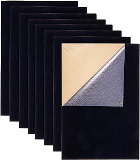 BENECREAT 20PCS Tela de Terciopelo (Negro) Tela Adherente Pegajosa Hojas Posteriores Hojas Adhesivas Traseras, Hoja A4 (21 cm x 30 cm), Autoadhesiva, Duradera y Resistente al Agua, Multiusos