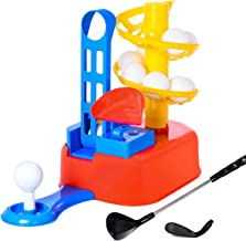 Exercise N Play Golf Toys Set, Kids Outdoor Toys, Kids Golf Clubs, Golf Ball Game, Early Educational, Outdoor Outside Exercise Toys for 3, 4, 5, 6, 7 Year Olds Kids, Toddlers, Boys, Girls
