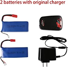 2 Pcs 7.4v 2500mah Lipo Battery For Syma X8 X8C X8W X8G X8HD X8HW X8HG RC Quadcopter Parts Drone Battery with Original Charger