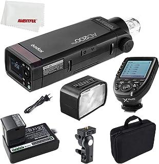 Godox AD200Pro - Luz flash para exteriores (200 W, TTL 2.4G, 1/8000 HSS, con batería de 2900 mAh, 0.01-1.8s, reciclada)