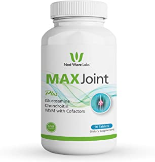 Next Wave Labs Max Joint, Glucosamine, Chondroitin, Calcium, Joint Health, Joint Support Supplement, 90 Tablets