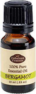 Bergamot 100% Pure, Undiluted Essential Oil Therapeutic Grade - 10 ml. Great for Aromatherapy!