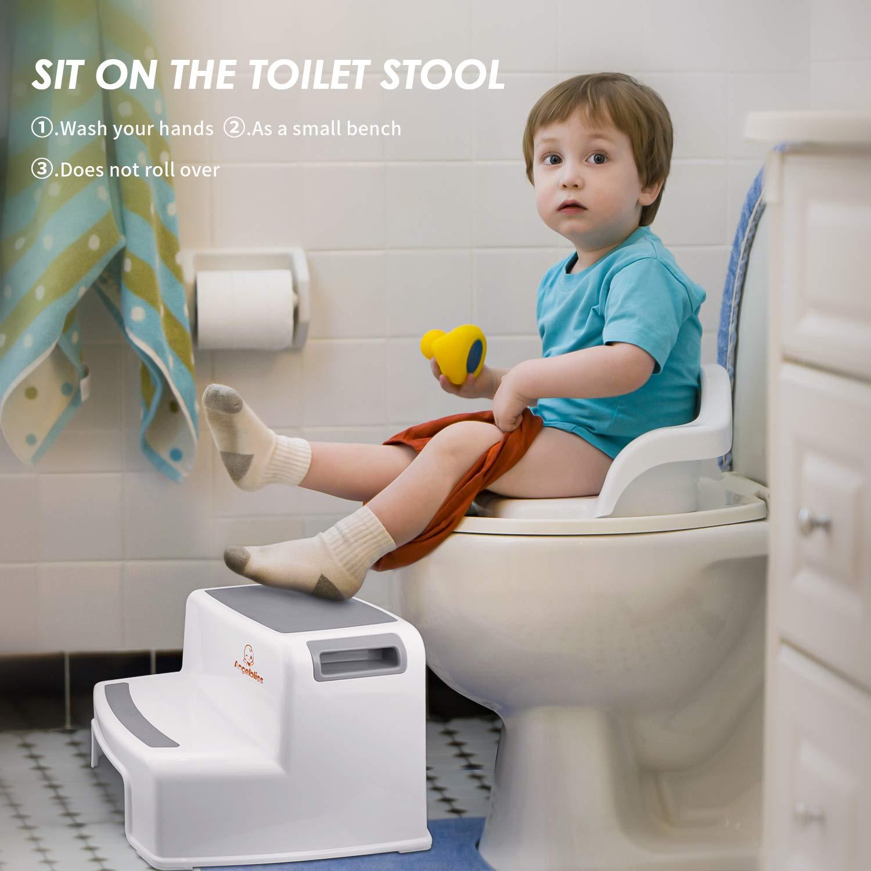 Angelbliss Tritthocker für Kinder, zweistufiges Design mit weichen ...