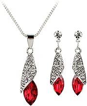 Hoshell Clearance Deals Necklace+Earrings Water Drop Pendant Necklace Ear Studs Suit Jewelry Ornaments For Women Girlfriend