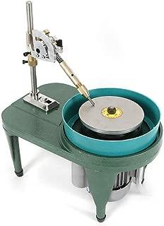 Gem Faceting Machine 110V 80W Electric Gemstone Jewelry Grinding Polishing Machine Bench Lathe Jewel Angle Polisher Ring Surface Jade Grinding Manipulator Grinder