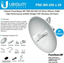 Ubiquiti Network PBE-M5-300 (20 Pack) PowerBeam M5 22dBi AIRMAX Antenna Bridge 5GHz 300mm Outdoor