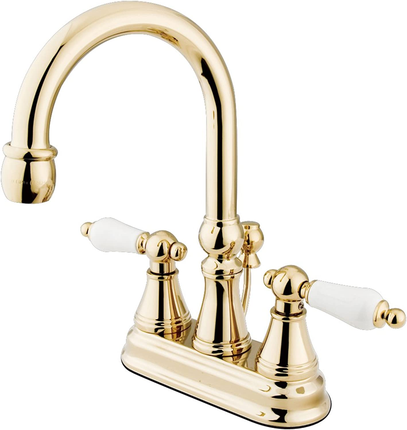 Nuvo Elements of Design ES2612PL Madison 2-Handle 4  Centerset Lavatory Faucet with Brass Pop-up, 4-7 8 , Polished Brass