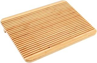 Adjustable Laptop Stand, Fold Computer Cooling Rack Bamboo Portable Desktop Height With Fan (Color : Without fan, Size : S)