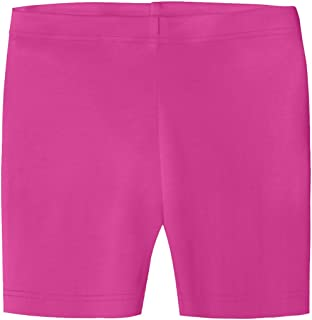 City Threads Girls' 100% Organic Bike Shorts for Sports Under Skirts