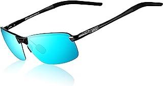 ATTCL - Hombre Gafas De Sol Polarizado Uv400 Súper Ligero Al-Mg Marco De Metal