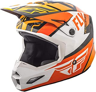 Fly Racing Elite - Casco de motocross para guitarra, color naranja – weiß-schwarz, tamaño: XXL, MX Downhill BMX
