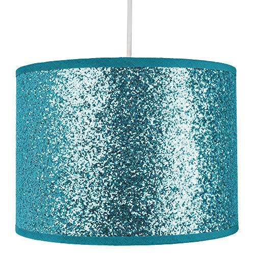 Modern en Designer Bright Teal Glitter stof hanger/lampenkap 25cm breed