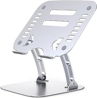SPRIME ノートパソコンスタンド パソコンスタンド PC タブレットス ノートパソコン用ラップデスク パソコンホルダー 無段階高さ調整可能 折りたたみ式 アルミ製 姿勢改善 収納可能 持ち運び便利 滑り止めパッド付き 10-17.3インチに...