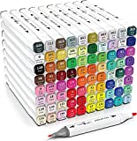 Marker Pen- 80 Colors Dual Tip Art Markers - Permanent Alcohol Markers - Sketching Markers for Drawing and Sketching for Adults and Kids
