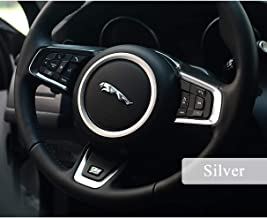 TopDall Steering wheel Aluminum Alloy Ring Interior Accessory Sticker Decals for Jaguar