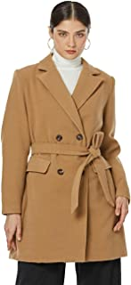 Sponsored Ad - Dilgul Women's Wool Coat Elegant Trench Coats Belted Double Breasted With Notched Lapel Mid Long Winter Coat