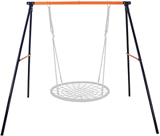 "BBBuy Heavy Duty All-Steel A-Frame Set Swing Stand 72"" Height 87"" Length 220 Lbs Weight Capacity, Fits for Most Swings, Fun for Kids Toddlers in Playground, Backyard"